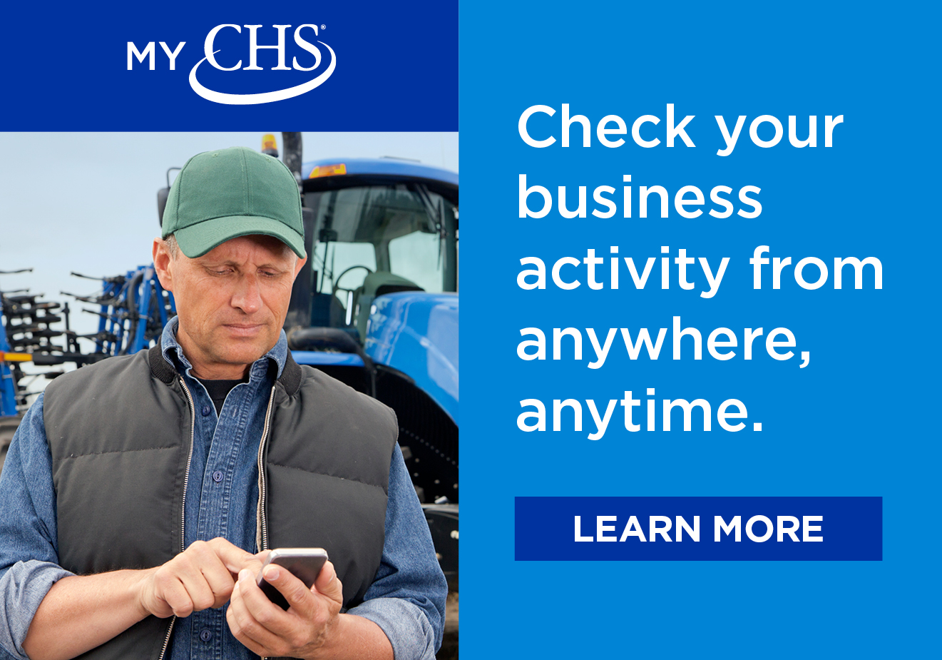 Check your business activity from anywhere, anytime with the MyCHS Customer App